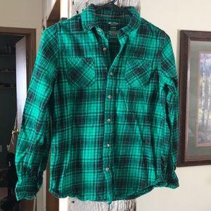 Boys Arizona Plaid Flannel Shirt L 14/16